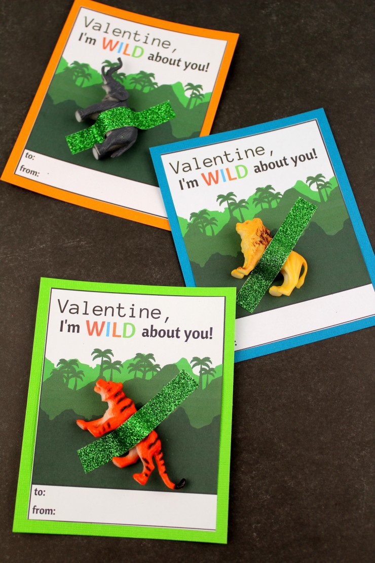 These wild animal valentine's day cards are super cute and perfect for classroom valentines! What a great way for your child to let their friends know they care!