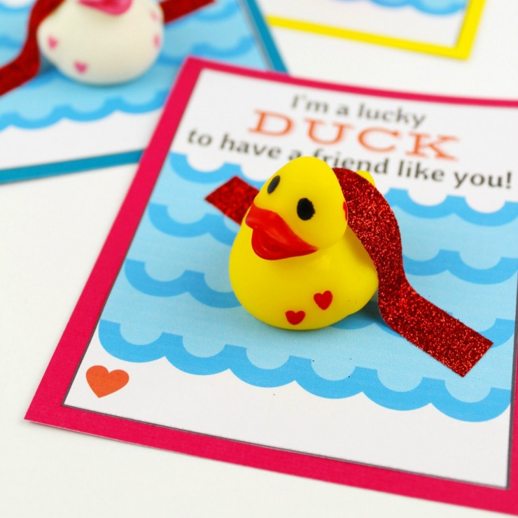 Lucky Duck Valentine's Day Card
