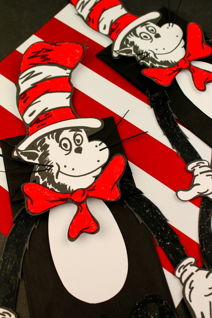 graphic about Cat in the Hat Printable identify The Cat in just the Hat Paper Bag Puppet - Frugal Mother Eh!