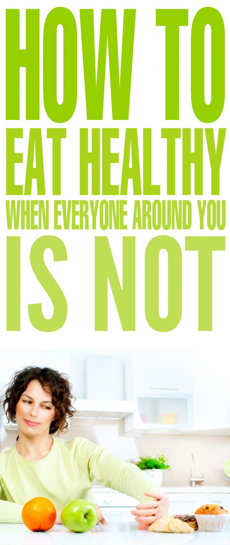 Let's face it. Going on a diet and eating healthy is not the easiest thing to do. This is especially true if you're the only one trying to eat healthy. When everyone around you is splurging and eating unhealthy food, it can be very tempting to join in. However, if you want to live a healthier lifestyle, you'll need to resist. These tips will help you eat healthy, even when everyone around you is not.