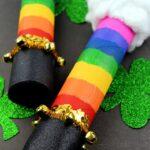 St. Patrick's Day Rainbow Rain Stick