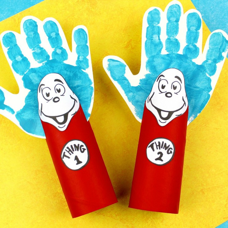 Thing 1 and Thing 2 Toilet Paper Tube Craft