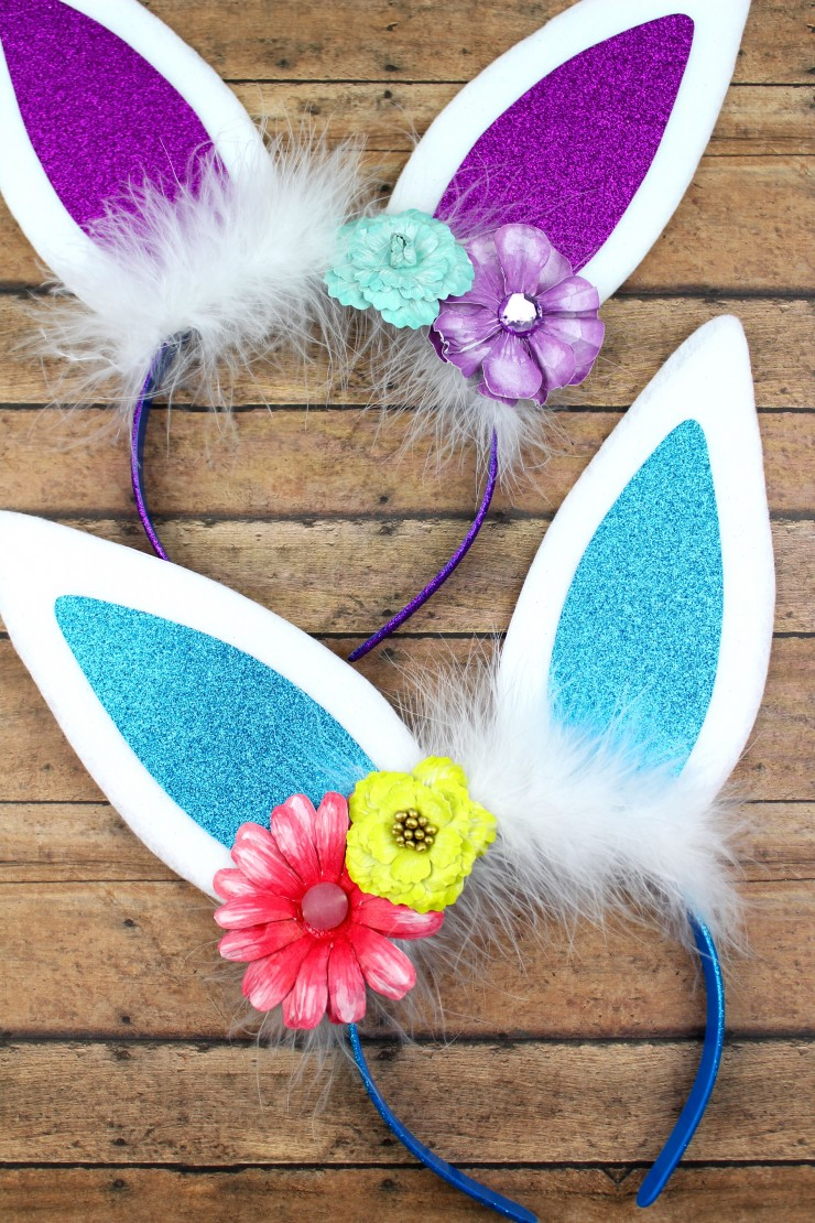 These adorable bunny headbands are an easy diy project that results in a pretty headband perfect for Easter and everyday wear!