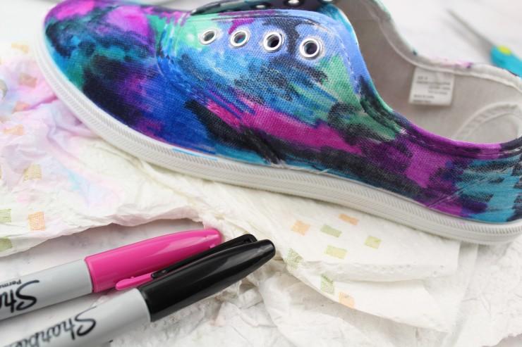 a1484c5eb2ce DIY Sharpie Galaxy Shoes - Frugal Mom Eh!