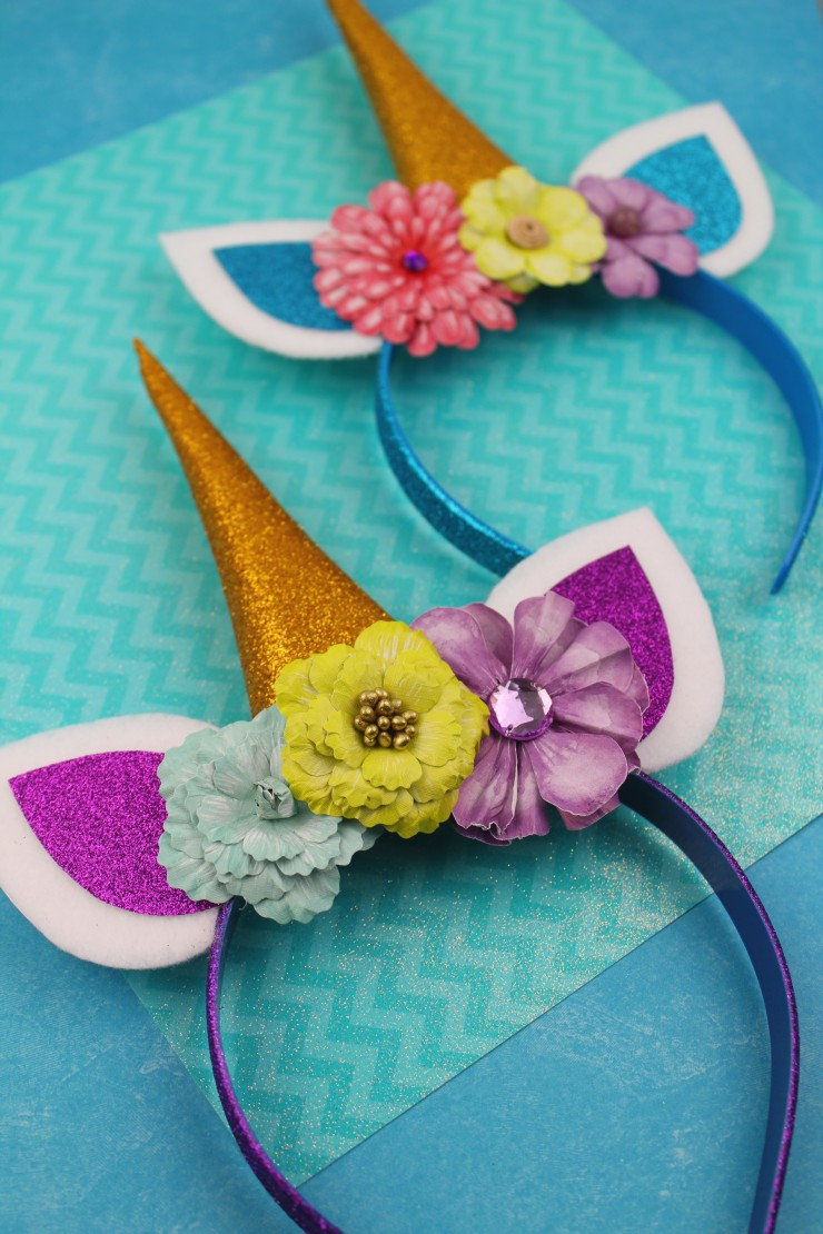 These adorable unicorn headbands are an easy diy project that results in a pretty headband any unicorn lover would be proud to wear!
