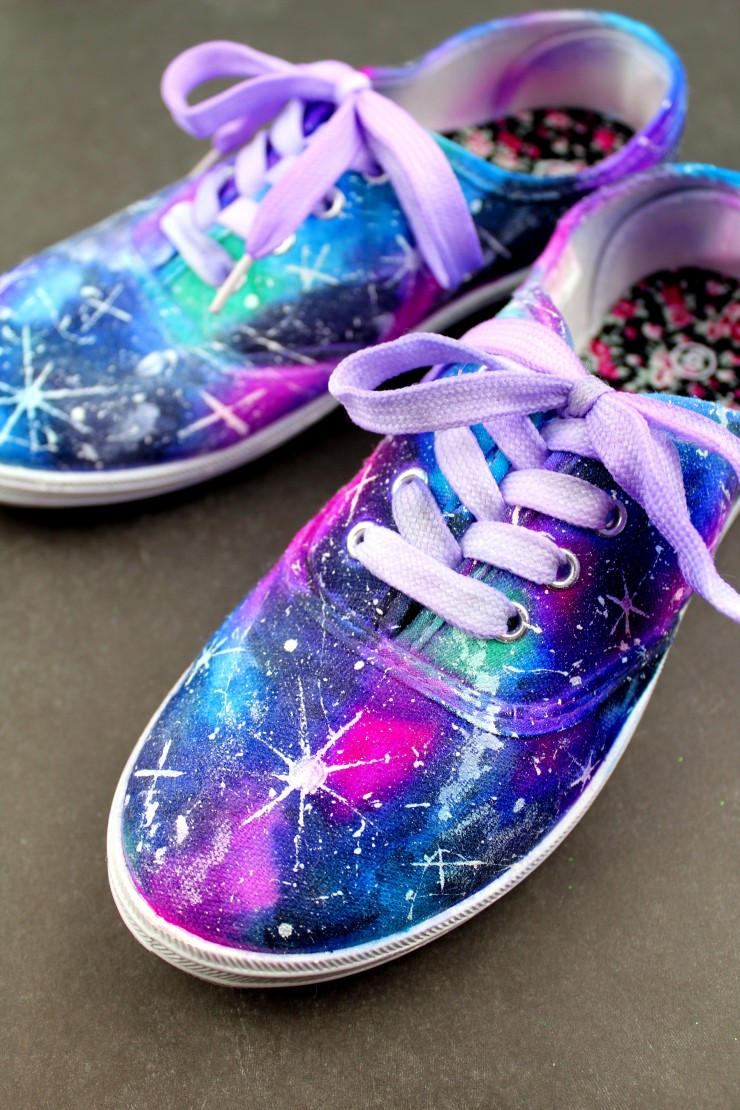 515e30be9a18a0 These DIY Sharpie Galaxy Shoes are a fun project you can make at home to  create