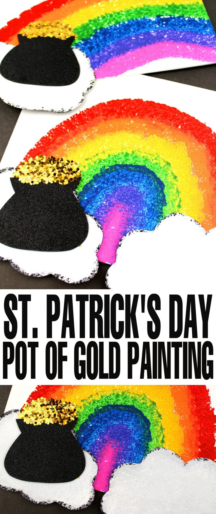 This St. Patrick's Day Pot Of Gold Sponge Painting is fun craft for kids that also makes for a lovely keepsake gift or art to hang up on your childs wall.