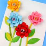 Egg Carton Flower Canvas