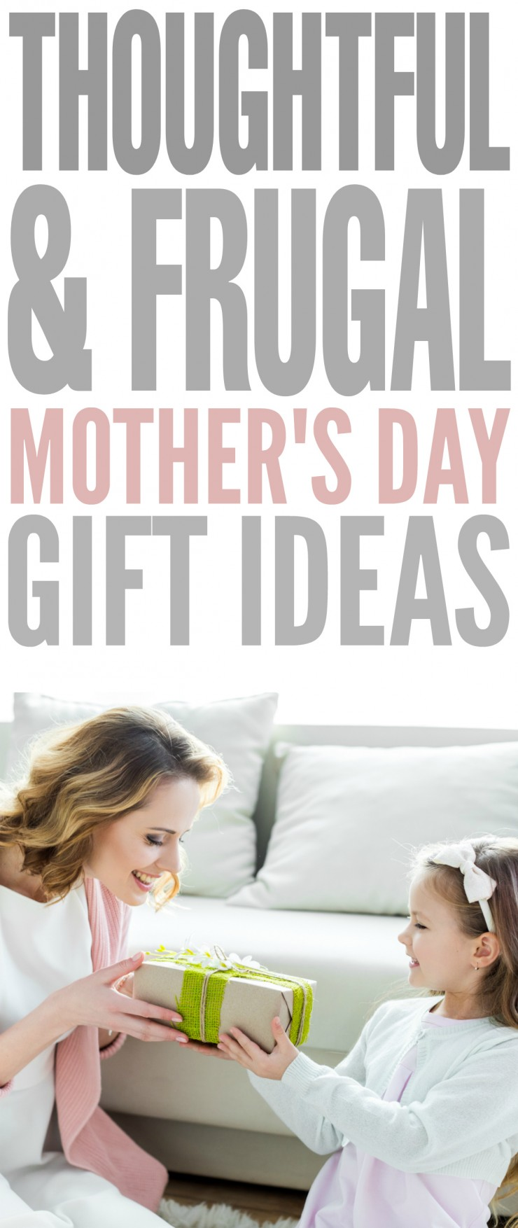 While a classic bouquet of flowers is thoughtful, there are other thoughtful and frugal Mother's Day gift ideas out there that will really show her how important she is to you.
