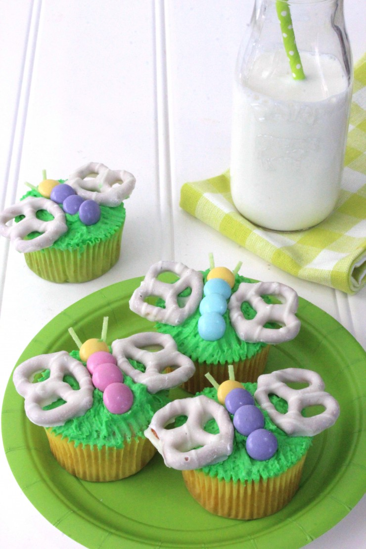 These butterfly cupcakes are an adorable treat. Perfect for spring and summer celebrations, you won't believe how easy these adorable cupcakes are to make!
