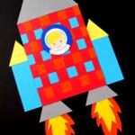 Basketweave Rocket Ship