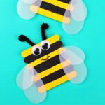 Popsicle Stick Bumble Bee Craft