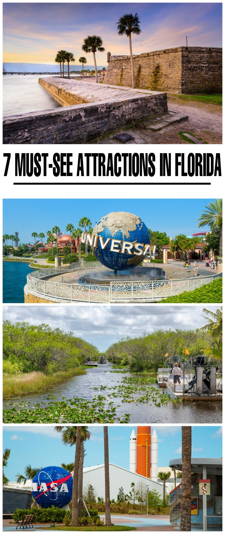 Florida is home to many amusement parks, state parks, caves, beautiful beaches and many other attractions. Florida is an extremely popular vacation destination and it's not hard to see why, check out these 7 must-see attractions in Florida!