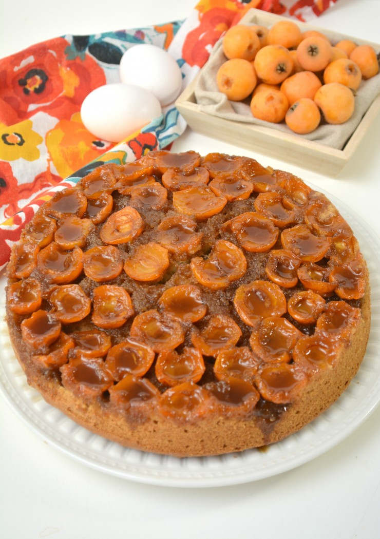 This Loquat Upside Down Cake looks impressive but is easy to make and absolutely delicious. Serve with coffee for a memorable after dinner treat.