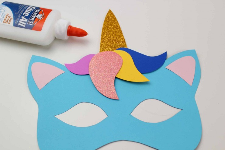 picture regarding Free Printable Unicorn Mask named Unicorn Mask Craft + Printable Colouring Sheet Mask - Frugal