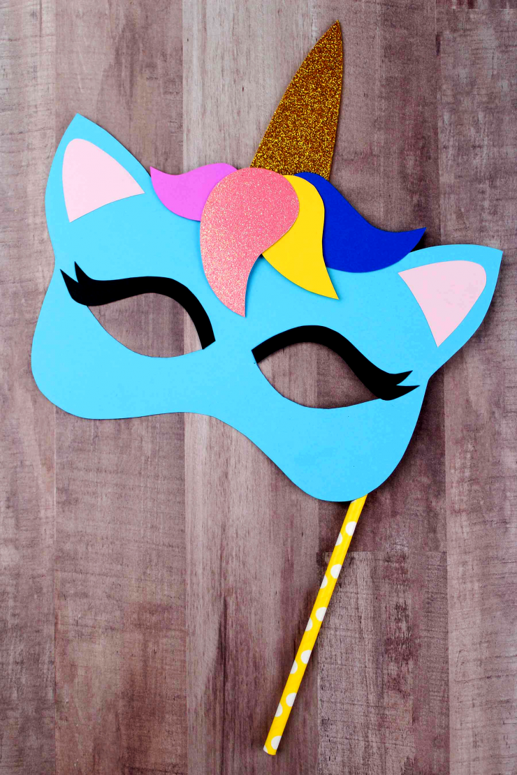 image relating to Printable Unicorn Mask referred to as Unicorn Mask Craft + Printable Colouring Sheet Mask - Frugal