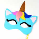 Unicorn Mask Craft + Printable Colouring Sheet Mask