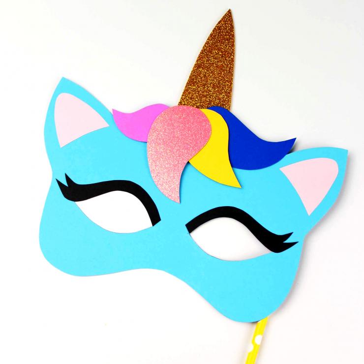 Unicorn Mask Craft + Printable Colouring Sheet Mask