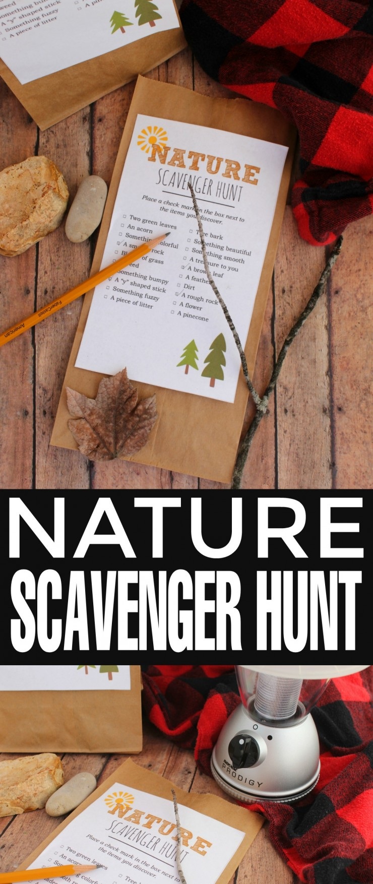 This Nature Scavenger Hunt Printable is perfect to take on camping trips, to the park, or even just the back yard for a fun nature scavenger hunt!