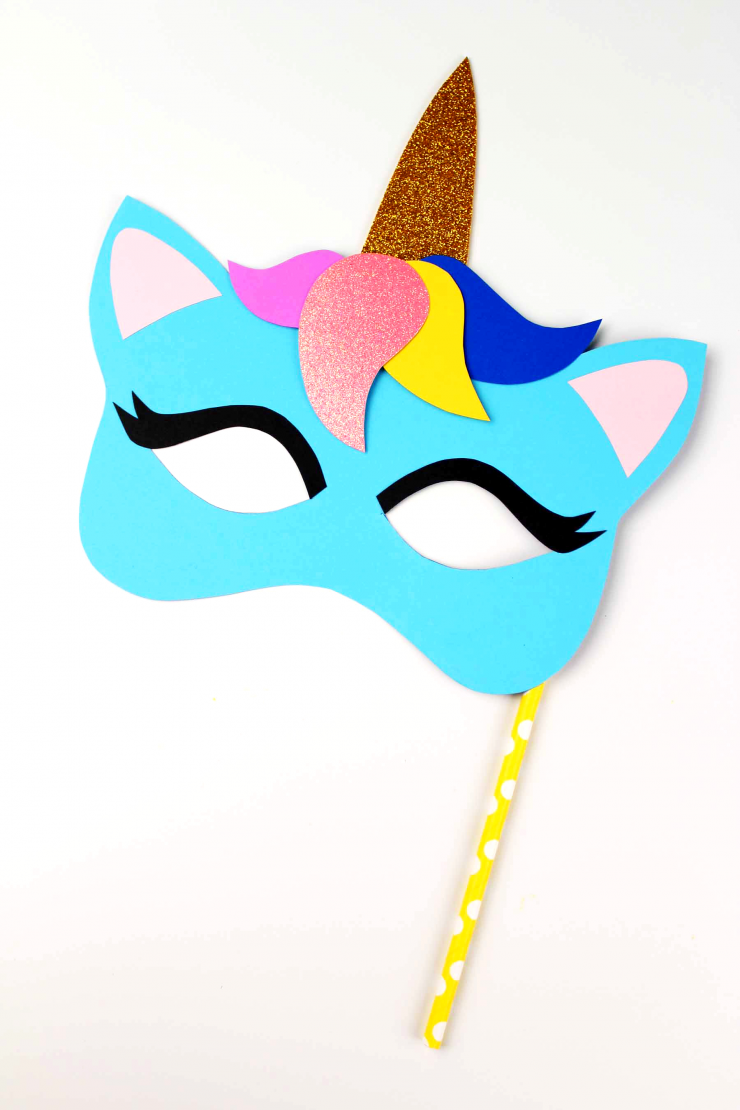picture relating to Printable Unicorn Mask referred to as Unicorn Mask Craft + Printable Colouring Sheet Mask - Frugal