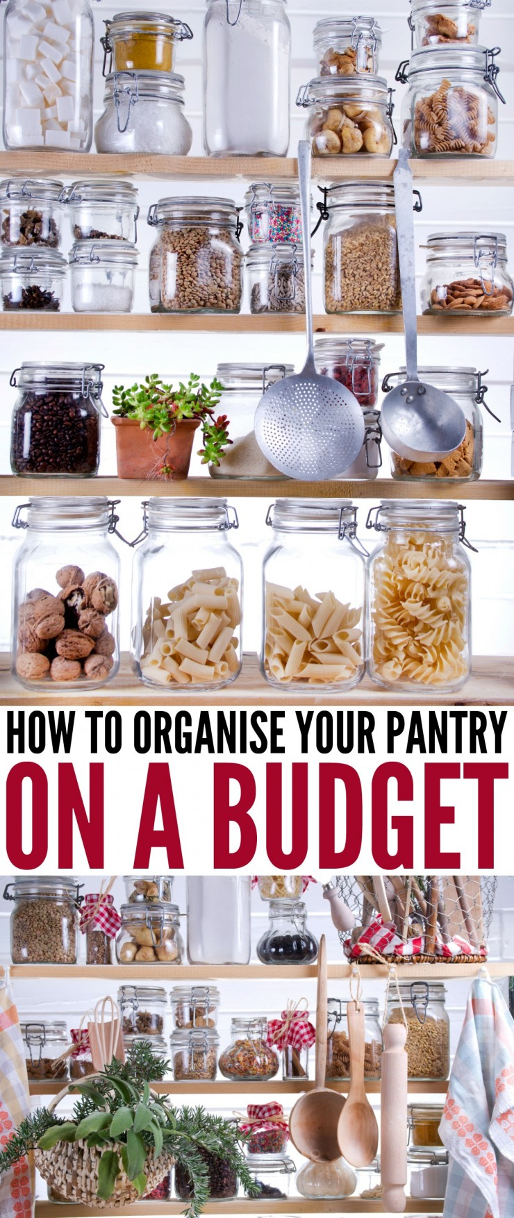 A pantry can be a crucial part to any kitchen. The truth is, it is meant to add organization, storage options and ease of access to the place you make meal magic happen. Here is how to Organize your Pantry on a Budget.
