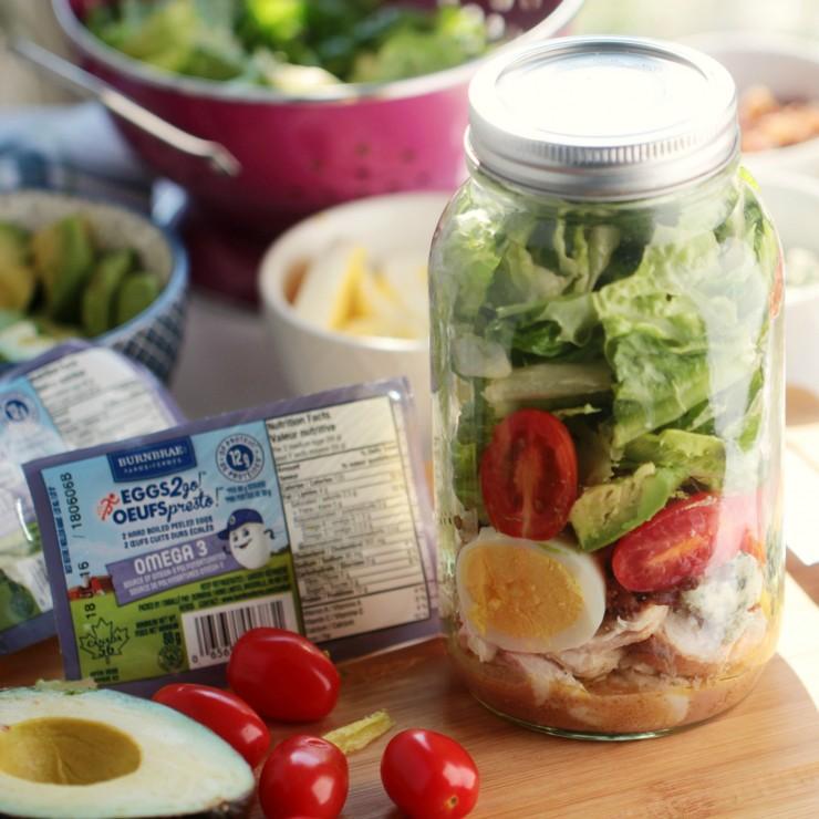 Cobb Salad in a Jar