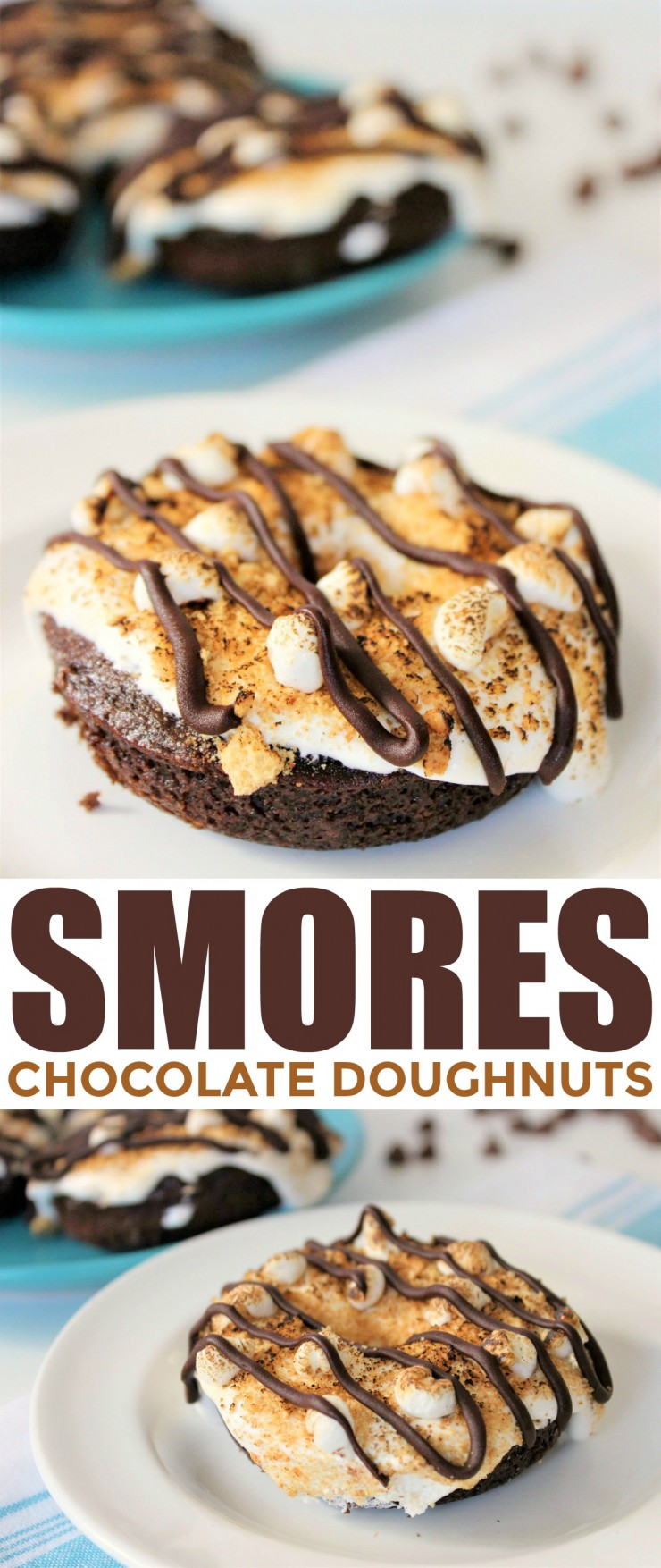 These indulgent S'Mores Chocolate Donuts are a real treat you are sure to enjoy, even if you can't sit by a camp fire.