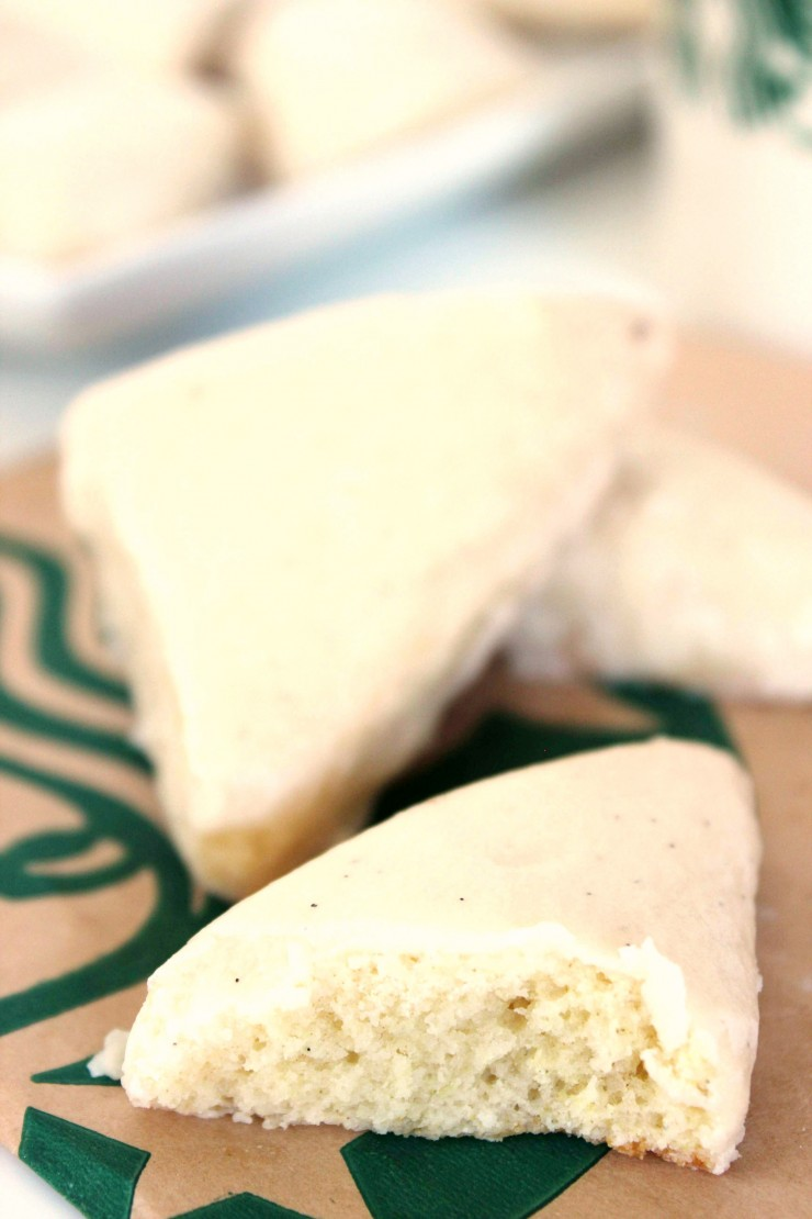 There is nothing I enjoy more than a freshly baked scone, smothered in butter with a cup of hot coffee. These Starbuck's Copycat Petite Vanilla Bean Scones are an easy way to enjoy fresh from the oven goodness that will make the real thing seem second best.