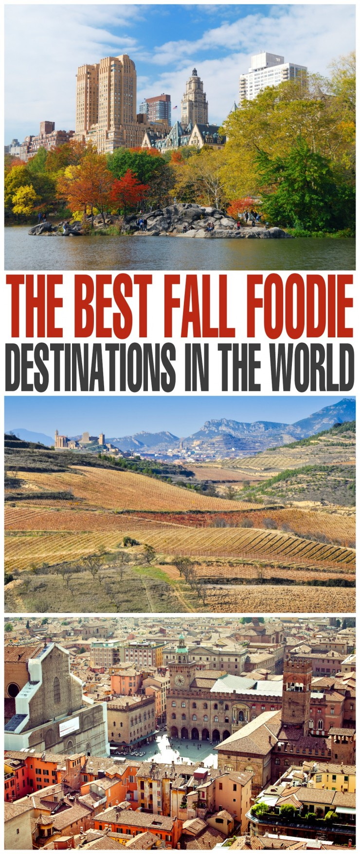 There are several foodie destinations in the world you should visit over the fall months as the menu chances with the seasons. These destinations are worth a trip for the meals alone.