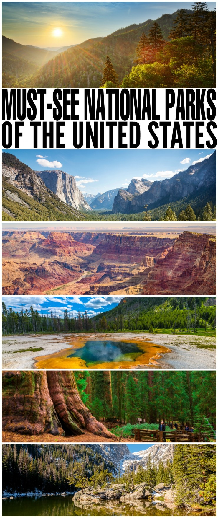 The National Parks in the United States feature some of the most inspiring views on the plant. Whether you are looking to discover deep valleys, tall mountains or giant trees, some the incredible United States National Parks will have exactly what you're looking for.
