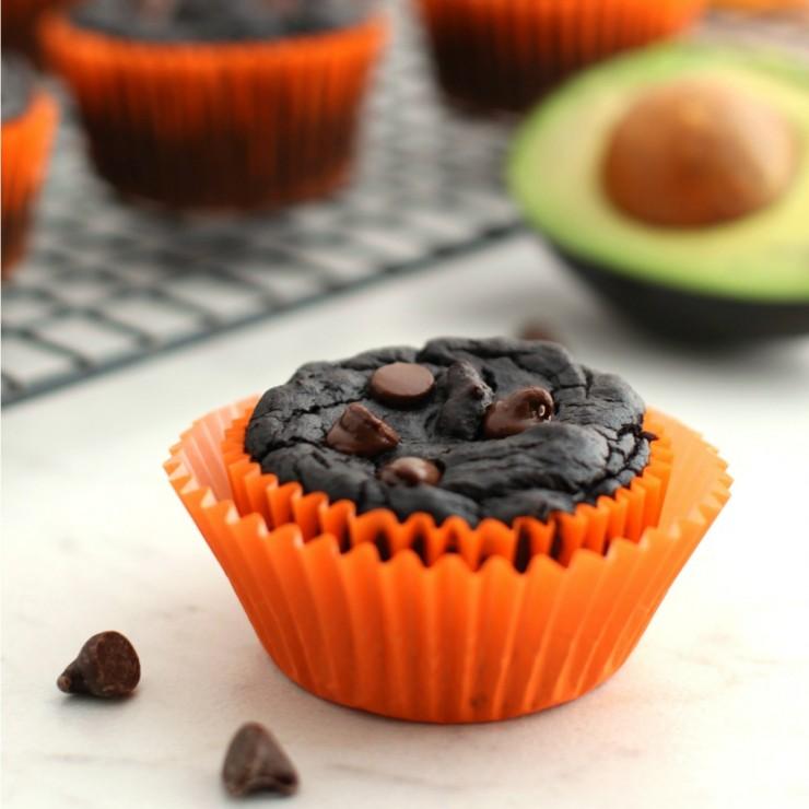 Healthy Pumpkin Chocolate Brownie Muffins