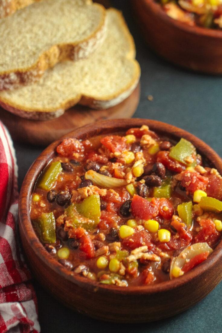 Slow Cooker Turkey Black Bean Chili