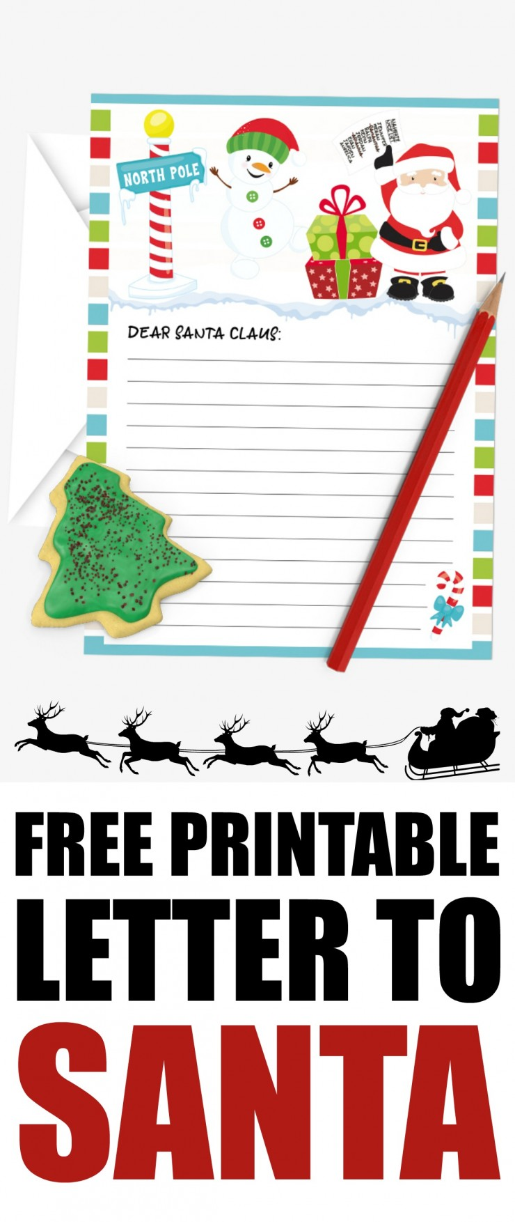 photo relating to Printable Letter to Santa known as Totally free Printable Letter in the direction of Santa - Frugal Mother Eh!