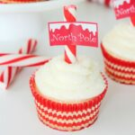 Sugar Cookie North Pole Cupcakes