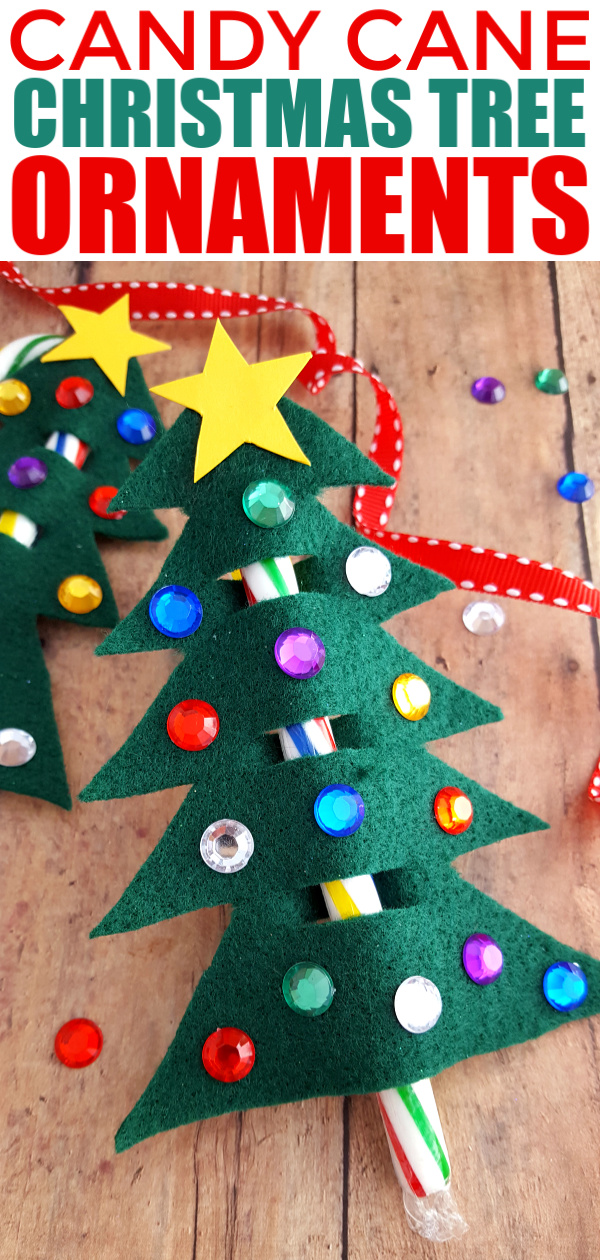 This Candy cane Christmas tree ornament is a fun craft for kids – classrooms, play dates, Christmas parties, etc. Give as a little gift, add to a wrapped gift to make it extra special!