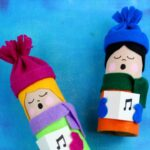 Toilet Paper Tube Christmas Carolers