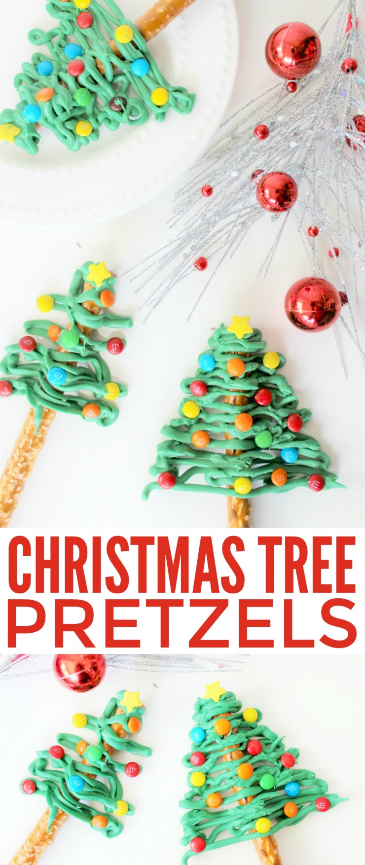 A fun holiday treat, these Christmas Tree Pretzels couldn't be any easier to make!