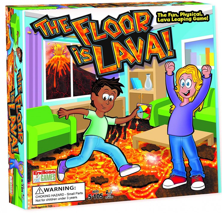 The Floor is Lava! Interactive Board Game for Kids and Adults