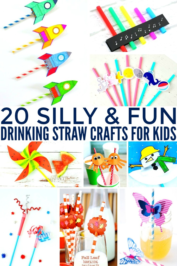 cool crafts for kids 20 silly amp straw crafts for frugal eh 10640