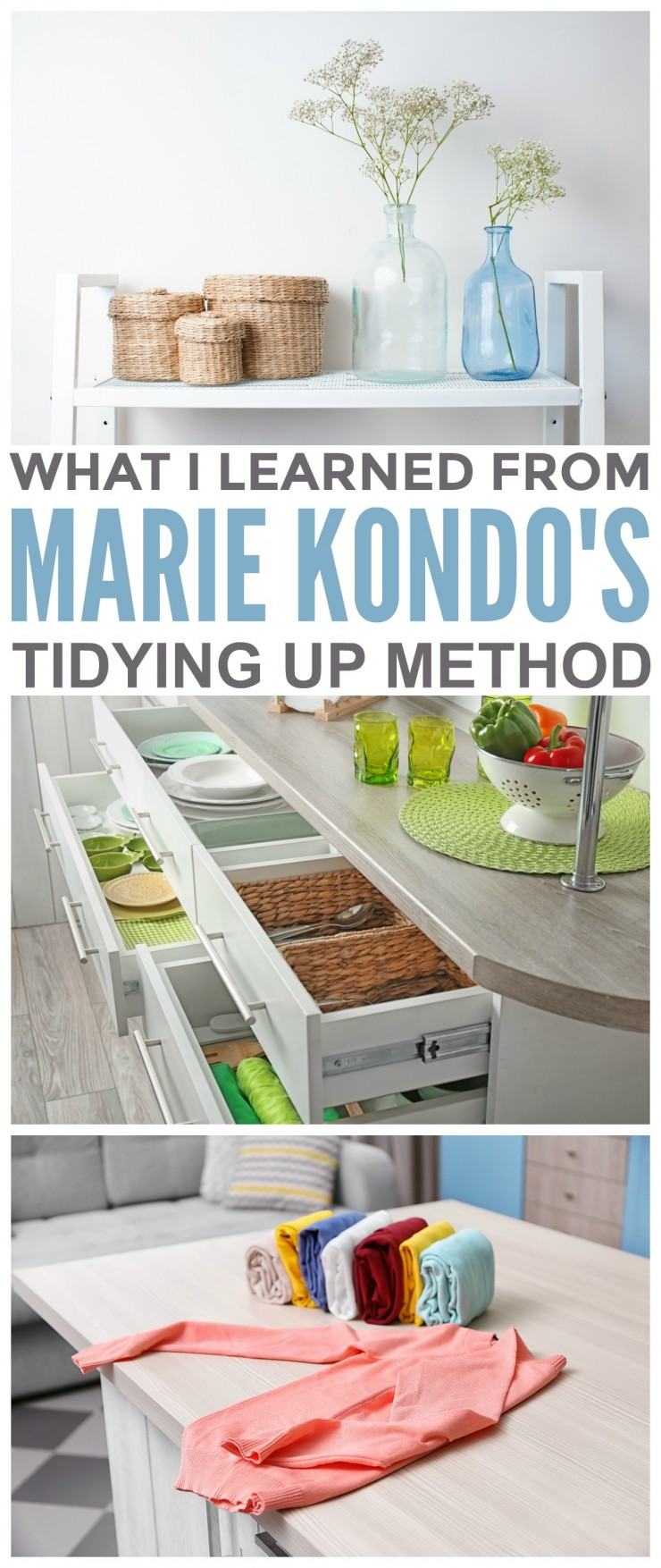 What I Took from Marie Kondo's Tidying Up Method. Thinking of trying the KonMari method for organizing your home? Check out my tips!