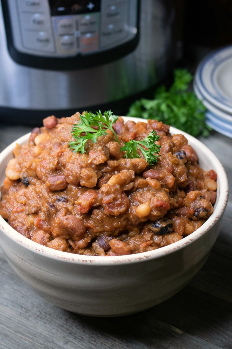 Delicious, healthy, easy and packed full of protein, this Instant Pot recipe for Bean Stew with Beef is sure to be a hit with your family.