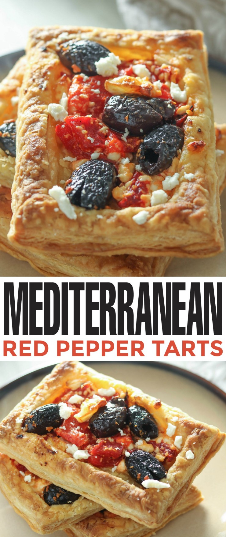 These Mediterranean Red Pepper Tarts make for a flavourful party starter that are quick and easy to make.