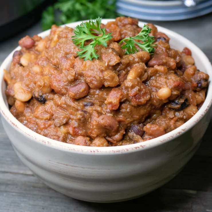 Instant Pot Bean Stew with Beef