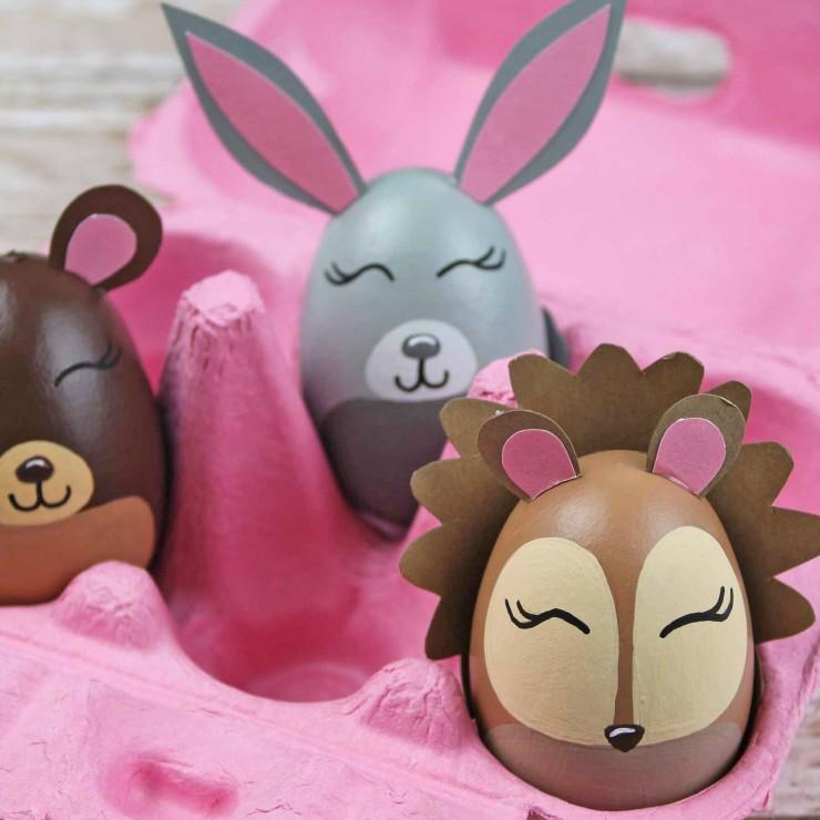 Woodland Animal Easter Eggs
