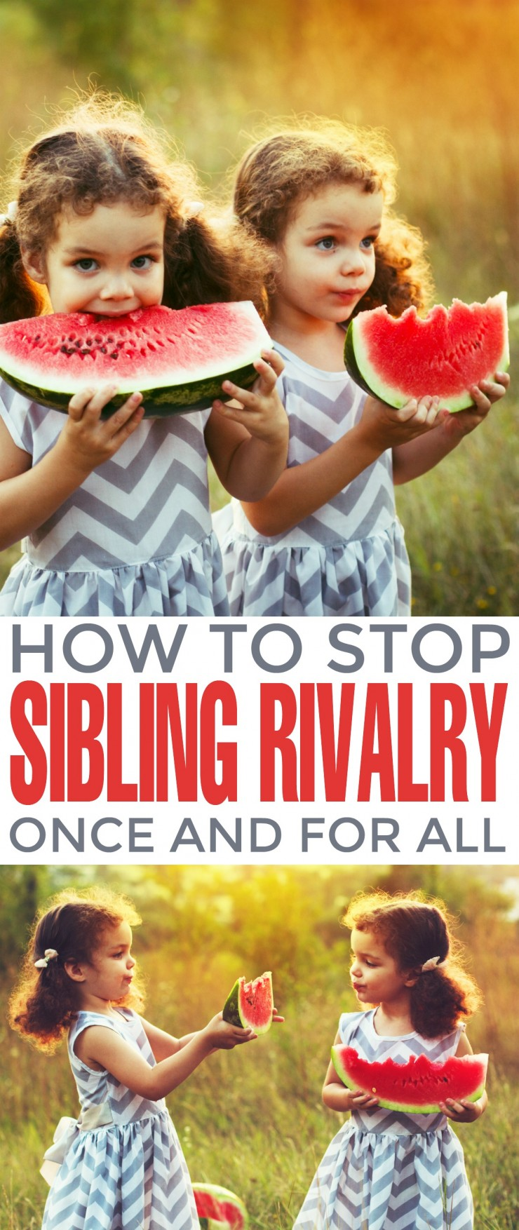 There are a few ways to stop sibling rivalry once and for all, fostering a positive relationship between your offspring and bringing a wave of calm over a home once filled with sibling turmoil. How to Stop Sibling Rivalry Once and For All
