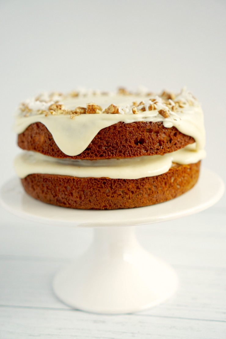This classic Carrot Cake recipe results in a perfectly moist cake topped off with a delicious cream cheese frosting that will have you asking for seconds!
