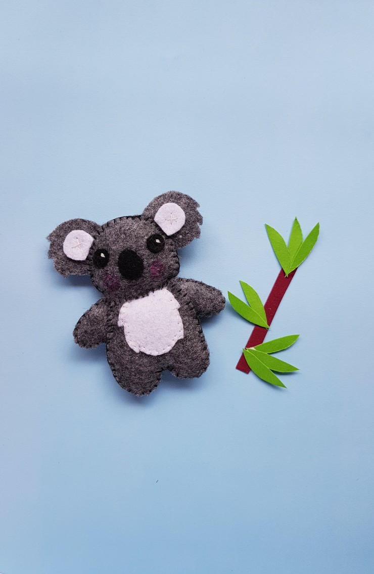 This adorable DIY Koala Plushie Felt Craft is a fun craft for kids to practice sewing.