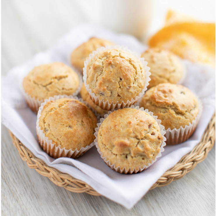 Butter Pecan Ice Cream Muffins