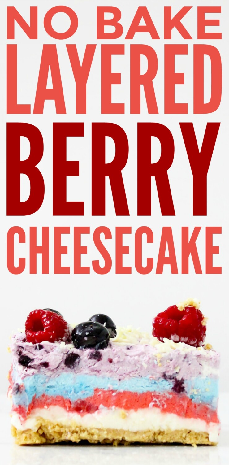 If you love cheesecake, you'll love this No Bake Layered Berry Cheesecake.  It's full of flavours that burst in your mouth, and it's so delicious, you'll have a hard time picking which layer is your favourite.