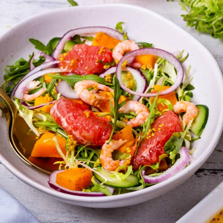 Grapefruit & Shrimp Salad